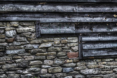 Photograph - Rock And Wood by Joann Long