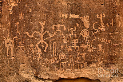 Photograph - Rock Art At Chaco Canyon by Adam Jewell