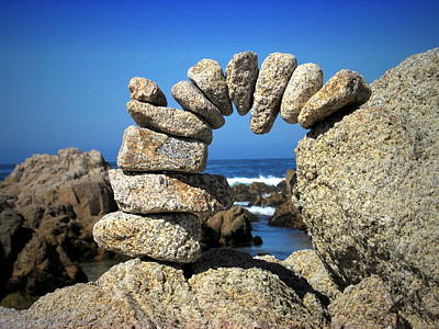 Numbers Plus Photograph - Rock Art One by Joyce Dickens