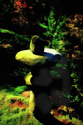 Mixed Media - Rock Balancing  Art by Joseph Hollingsworth