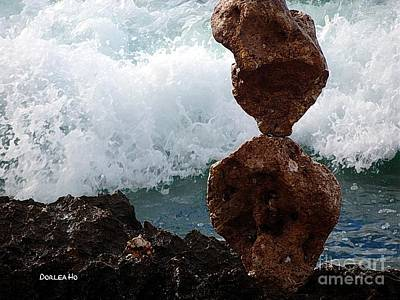 Digital Art - Rock Balancing by Dorlea Ho