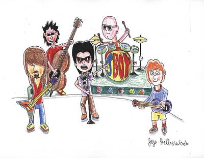 Drawing - Rock Band by Jayson Halberstadt