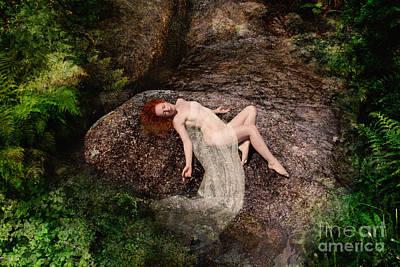 Rock Bathing Art Print