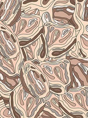 Rock Blob Pattern Art Print