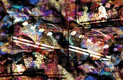 Digital Art - Rock Block Music by Lon Chaffin