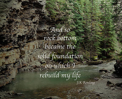 Mma Photograph - Rock Bottom Quote by Chellie Bock