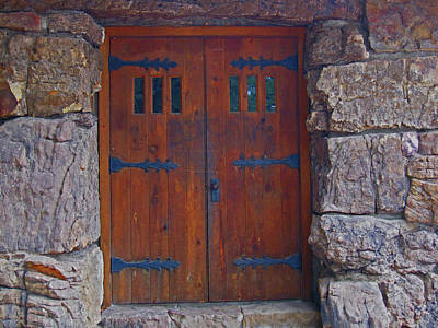 Art Print featuring the photograph Rock Building Doors by Tammy Sutherland