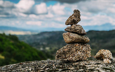 Photograph - Rock Cairn Trail Marker  by Alexandre Rotenberg