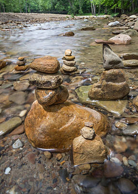 Photograph - Rock Cairns by Dale Kincaid