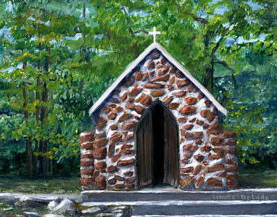 Hand Painted Painting - Rock Chapel Desoto Parish, Louisiana by Lenora De Lude