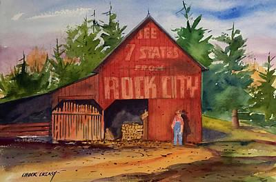 Tn Painting - Rock City Barn by Chuck Creasy