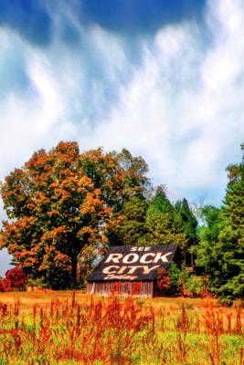 Photograph - Rock City Barn II Autumn Fog by Debra and Dave Vanderlaan