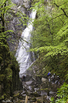 Photograph - Rock Climbers At Graymare's Tail Falls by Fran Gallogly