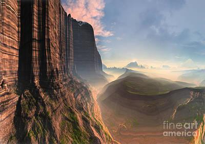 Mountain Valley Mixed Media - Rock Climber's Dream by Heinz G Mielke