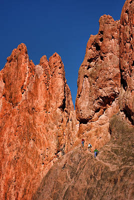 Photograph - Rock Climbers - Garden Of The Gods - Colorado by Nikolyn McDonald