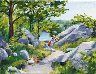 Painting - Rock Climbers by Trina Teele