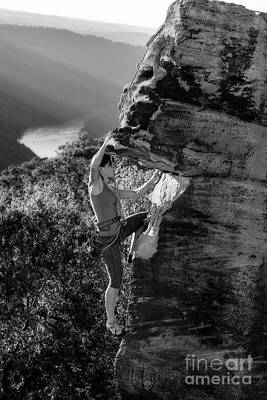 Photograph - Rock Climbing In West Virginia by Dan Friend