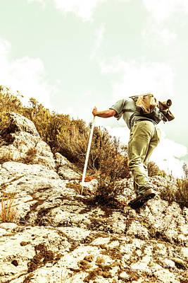 Climb Photograph - Rock Climbing Mountaineer by Jorgo Photography - Wall Art Gallery