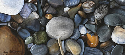 Pebble Painting - Rock Collection by Wendy Ballentyne