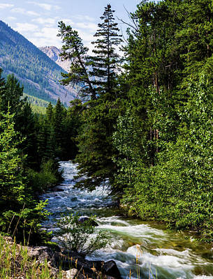 Photograph - Rock Creek And The Beartooth Mountains by TL Mair