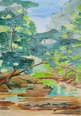 Bethany Lee Painting - Rock Creek Bend 2 by Bethany Lee