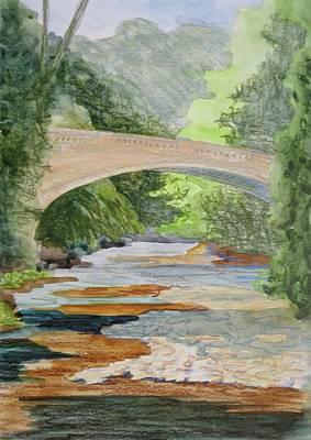 Bethany Lee Painting - Rock Creek Bridge 3 by Bethany Lee