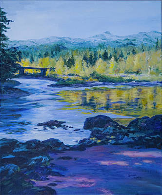 Painting - Rock Creek Fishing Hole by Donna Drake