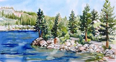Painting - Rock Creek Lake by Lynn Marit Peterson