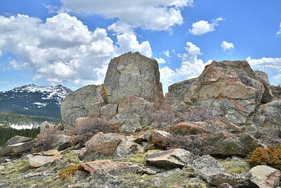 Photograph - Rock Cropping At Big Horn Pass by Ray Mathis