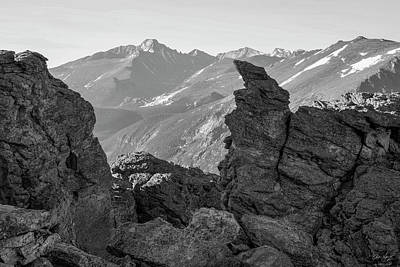 Photograph - Rock Cut Black And White by Aaron Spong