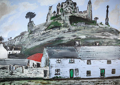 Rock Of Cashel Painting - Rock by Damien McCabe