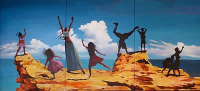 Rock Dancers Art Print by Geoff Greene