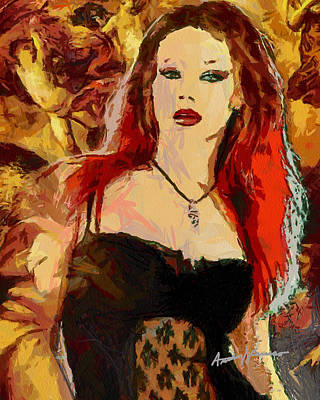 Rock Diva Art Print by Anthony Caruso