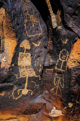 Tribal Photograph - Rock Drawings by Garry Gay