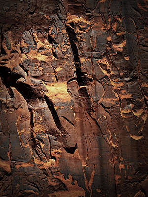 Photograph - Rock Face Abstract  by Nadalyn Larsen