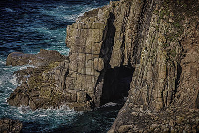 Rock Face Art Print by Martin Newman