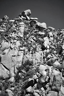 Photograph - Rock Face Sandia Mountain by Ron Cline