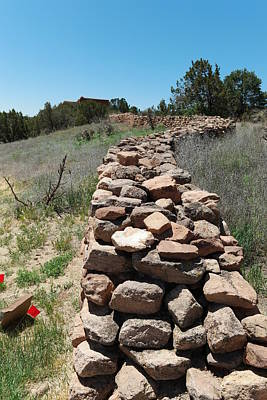 Architcture Photograph - Rock Fence by Jeff Swan