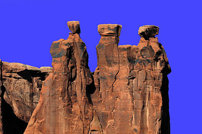 Photograph - Rock Formation Arches National Park by Lawrence Christopher