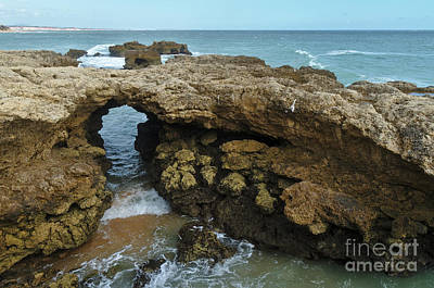 Photograph - Rock Formation In Aveiros Beach, Albufeira by Angelo DeVal