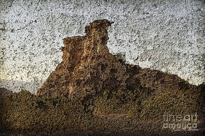 Photograph - Rock Formation On Adobe Wall by Dave Gordon