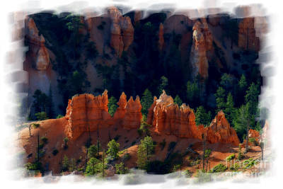 Photograph - Rock Formation View In Bryce National Park  Paintography by Dan Friend