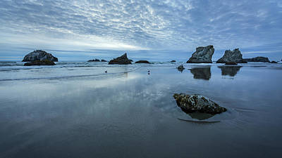 Photograph - Rock Formations Along The Shore by Rick Strobaugh