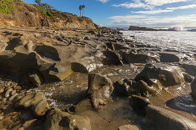 Photograph - Rock Formations At Low Tide by Cliff Wassmann