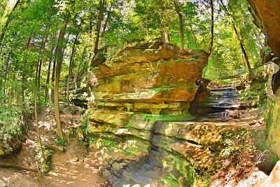 Photograph - Rock Formations At Old Man's Gorge Trail by Lisa Wooten