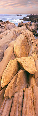 Morro Bay Rock Photograph - Rock Formations At The Coast, Montana by Panoramic Images