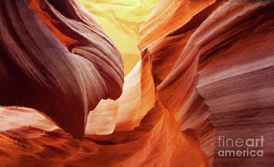 Rock Formations By Sarah Kirk Art Print by Sarah Kirk