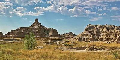 Photograph - Rock Formations Of The Badlands by Bruce Bley