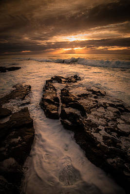 Rock Formations On The Shore Art Print
