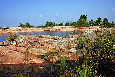 Photograph - Rock Formations Secret Bay by Debbie Oppermann